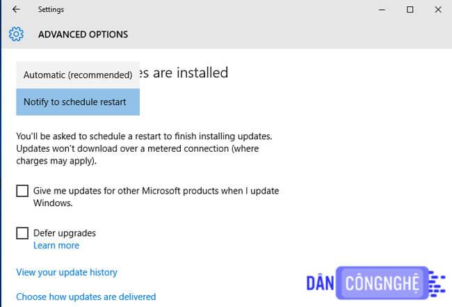 Tắt Windows Update bằng Administrative Tools