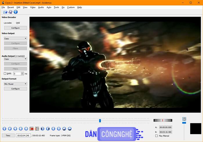 Avidemux là một trình chỉnh sửa video miễn phí