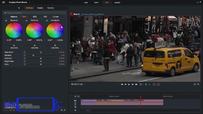 Phần mềm chỉnh video miễn phí Lightworks.