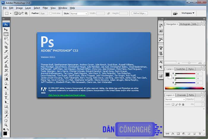 tải photoshop cs3 portable