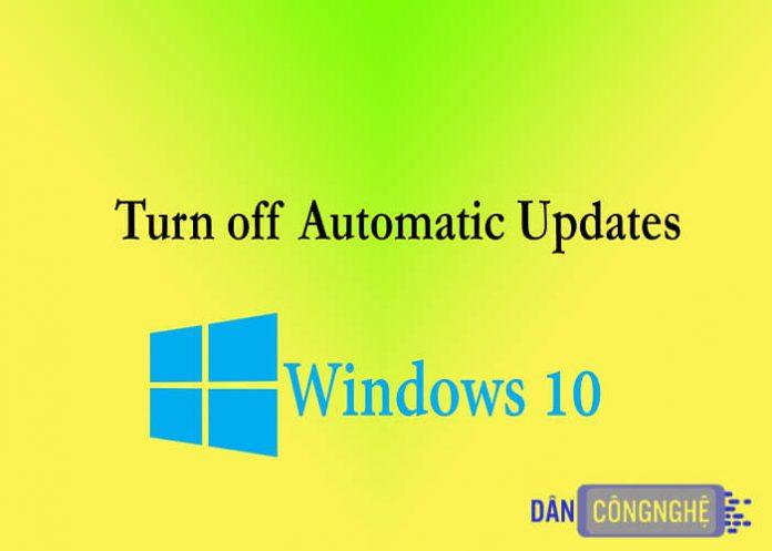 tắt update win 10