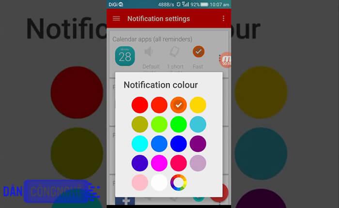 ứng dụng Tùy biến thông báo notification