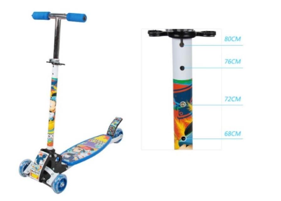Xe Scooter for kid có các nấc điều chỉnh phù hợp với chiều cao của trẻ